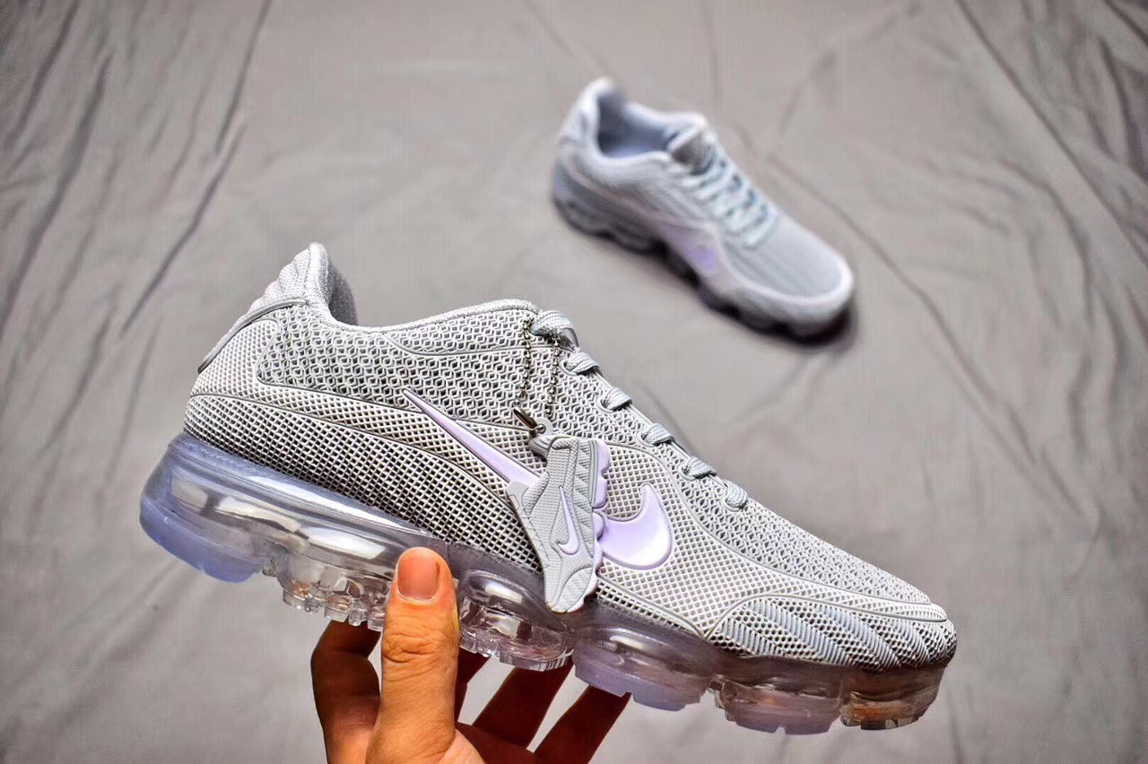 new concept b64a1 f3f78 Fashion Sneakers Nike Air Max 2018 Grey White Running Shoe Nike VaporMax  New Release Air Max