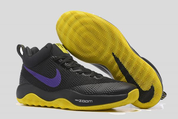100% authentic 27e40 dbe99 Official Nike Hyperrev 2017 Black Purple Yellow Basketball Shoes Online