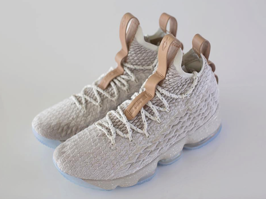 1ee4977529f 2018 Nike LeBron 15 Ghost String Vachetta Tan-Sail Basketball Shoe For Sale