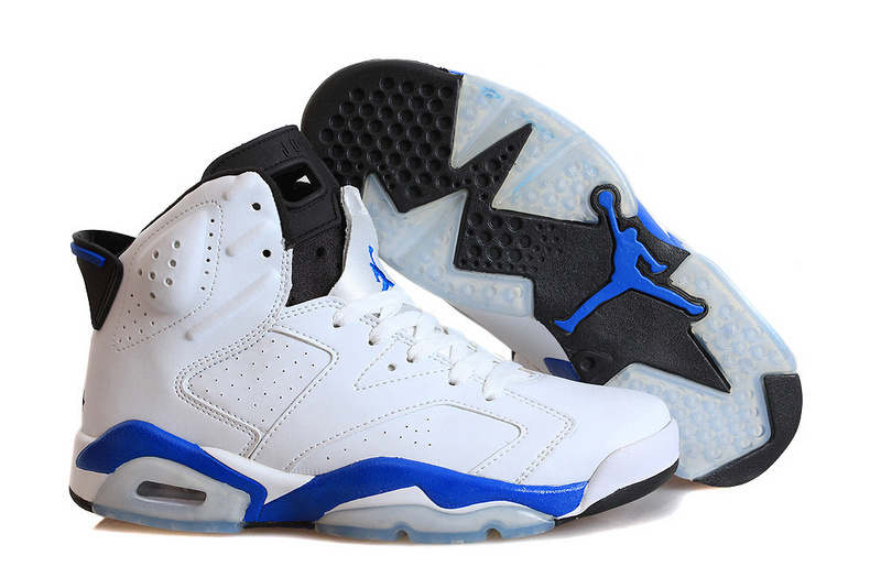 d02f83b6ad7f Air Jordan 6 (VI) Retro Sport Blue White Sport Blue-Black For Sale