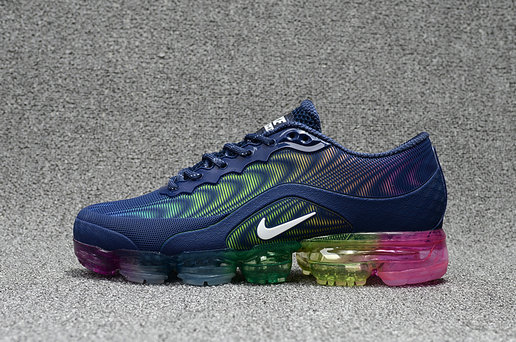 Nike Air Max 20185 VaporMax Dark Blue Colorful Running Shoe For Sale