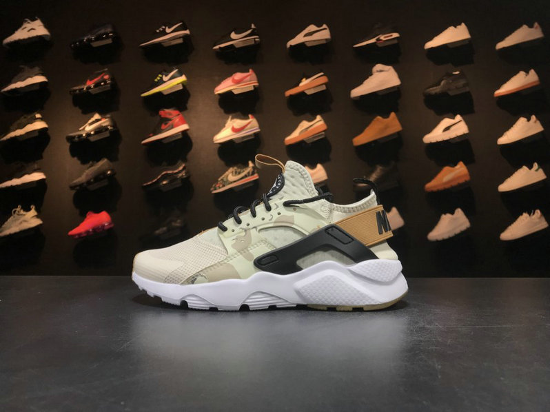 Nike Air Huarache Run Ultra 752038 991 White Black Brown Huarache For Sale