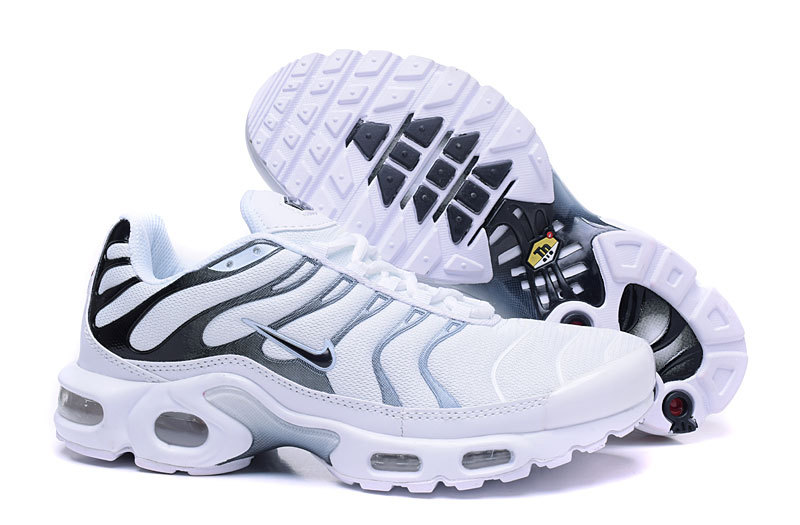 new product e5b39 6def1 Official Nike Air Max Tn Mens White Black Silver Running Shoe