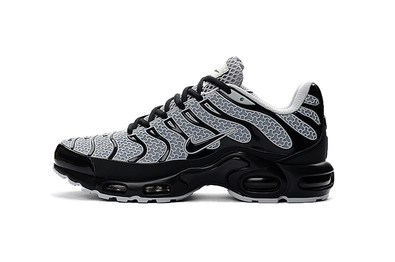 finest selection 9c48d 2a473 Nike Air Max Plus Tn Txt 604133 105 Grey Black Running Shoe For Sale