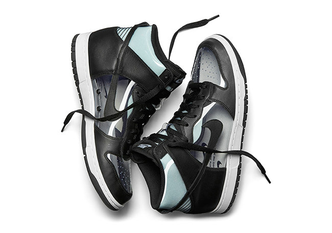 timeless design 84fd8 bc0b8 COMME des GARCONS x Nike Dunk High Clear Black Black-White Shoe For Sale