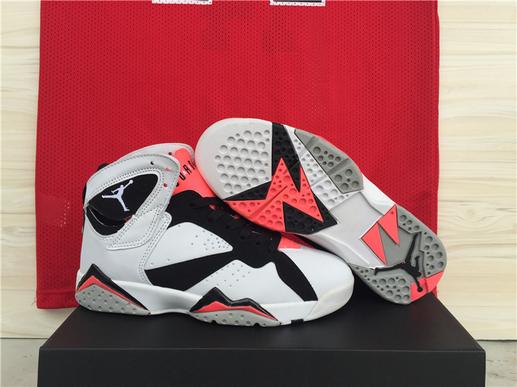 cheap jordan retro 7 vii mens white black red grey nike outlet factory high quality