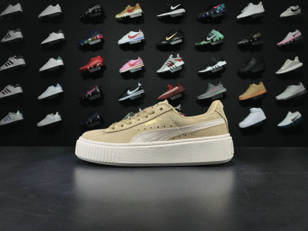 Puma Basket Suede Yellow Rice Color Shoe For Sale