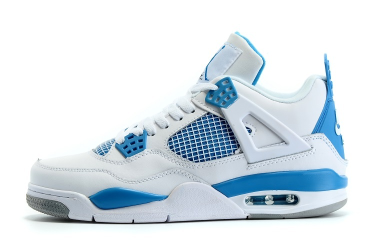 2016 Jordans Retro 4 Blue White
