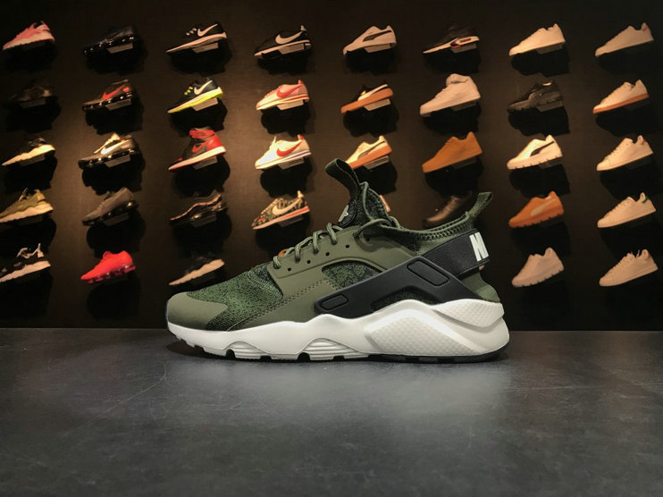 Nike Air Huarache Run Ultra 753889 003 Army Green White Huarache For Sale