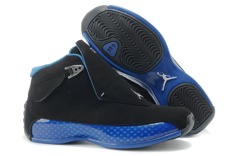 Air Jordan 18 (XVIII) Black Sport Royal For Sale