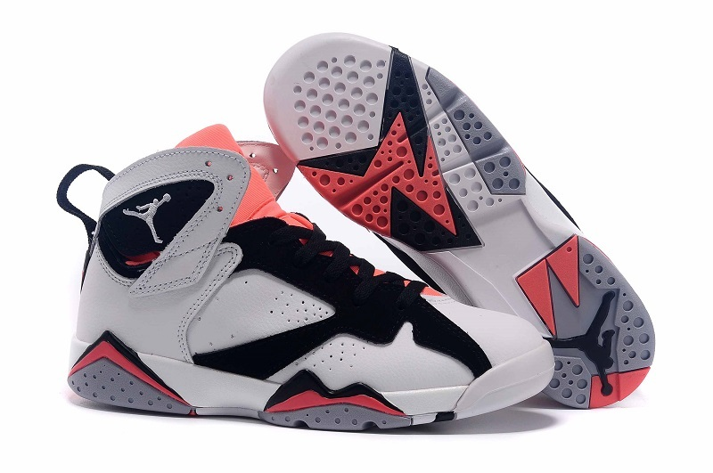 super popular 2edc8 55cb2 2015 new air jordan retro 7 vii white black pink shoe for sale