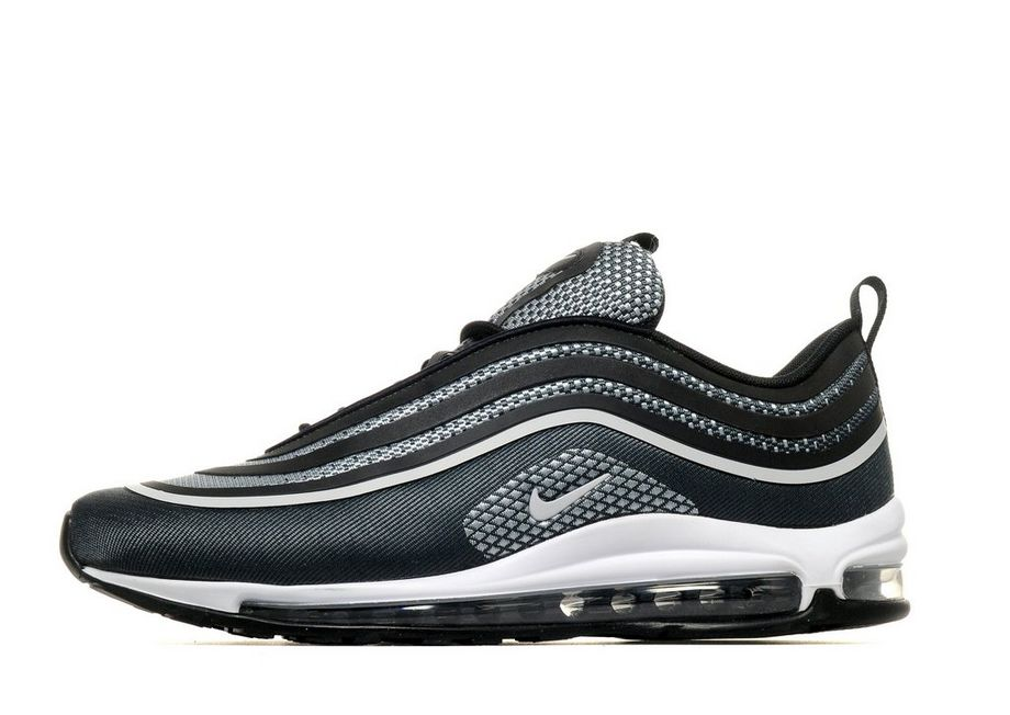 2018 Nike Air Max 97 Ultra Textile Synthetic Upper Synthetic Sole Black 282631 Running Shoe For Sale