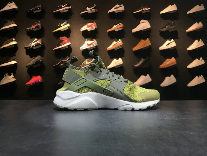 Nike Air Huarache Run Ultra 753889 995 Green Yellow White Huarache For Sale
