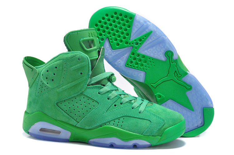 New Cheap Air Jordan 6 Suede All Green Online For Sale