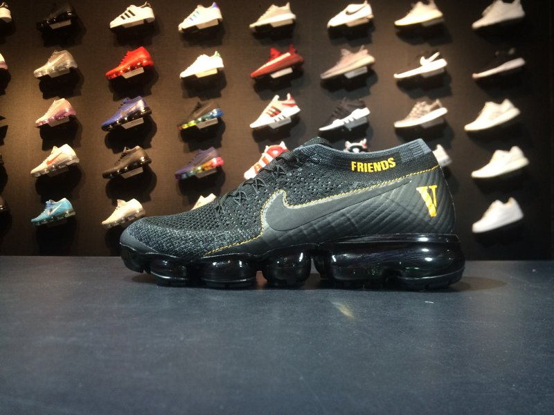 Sneakernews Recommend Nike Air VaporMax Flyknit 849558 001 Black Yellow Shoe For Sale