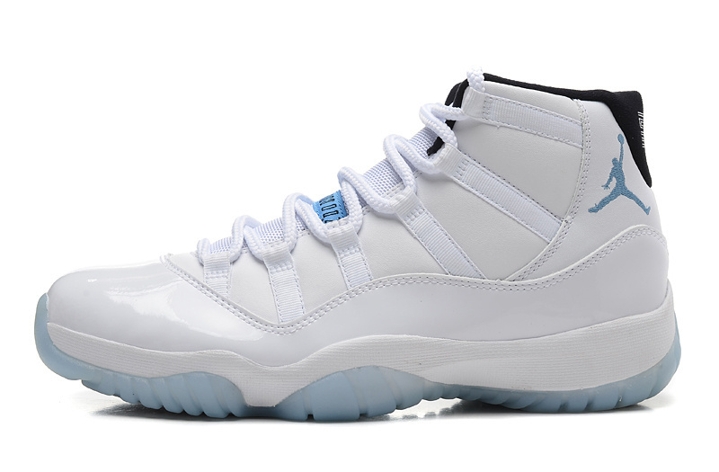 Cheap Air Jordan 11 White Legend Blue-Black Shoe For Sale
