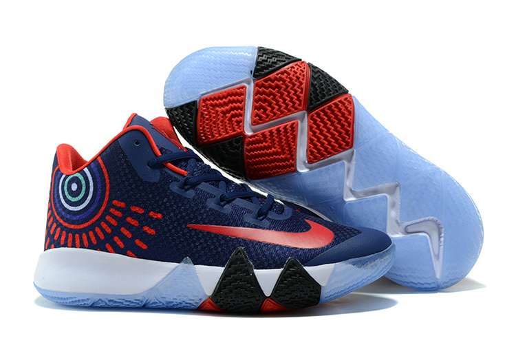 ab8286309a76 ... wholesale fashion sneakers nike zoom kyrie 4 dark blue red kyrie irving 4  for sale nba