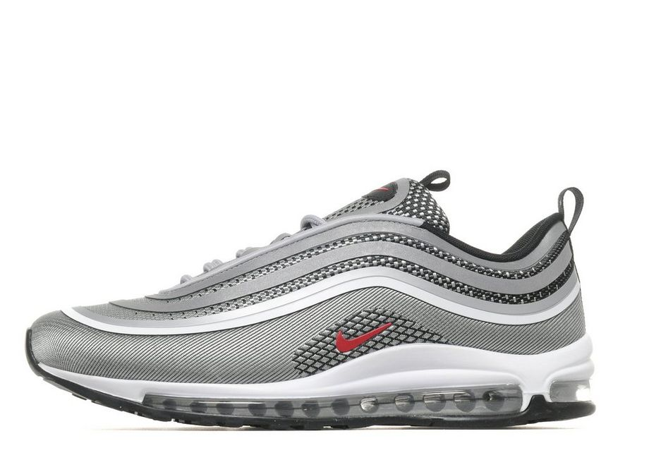 2018 Nike Air Max 97 Ultra Textile Synthetic Upper Synthetic Sole Grey Air Max Running Shoe For Sale