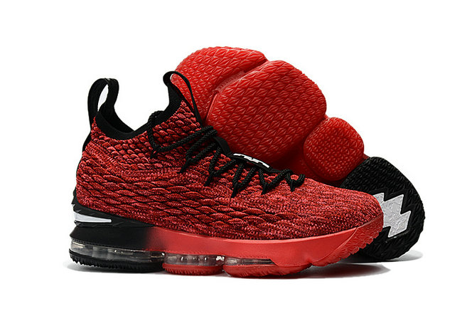 Nike LeBron 15 PE Red Black Basketball Shoe For Sale