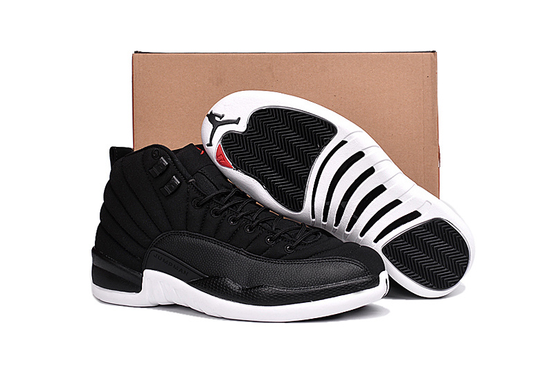 High Quality of Nike Air Jordans Retro 12 XII Black All White Discount  Basketball Shoe for Mens 469a4f47b
