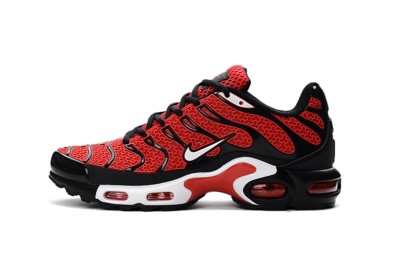 3c012d36fd Nike Air Max Plus Tn Txt 604133 101 Red Black Running Shoe For Sale