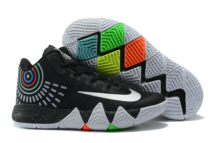 best service 36dd4 ae80b Fashion Sneakers Nike Zoom Kyrie 4 Black White Kyrie Irving 4 For Sale NBA  Basketball Shoe