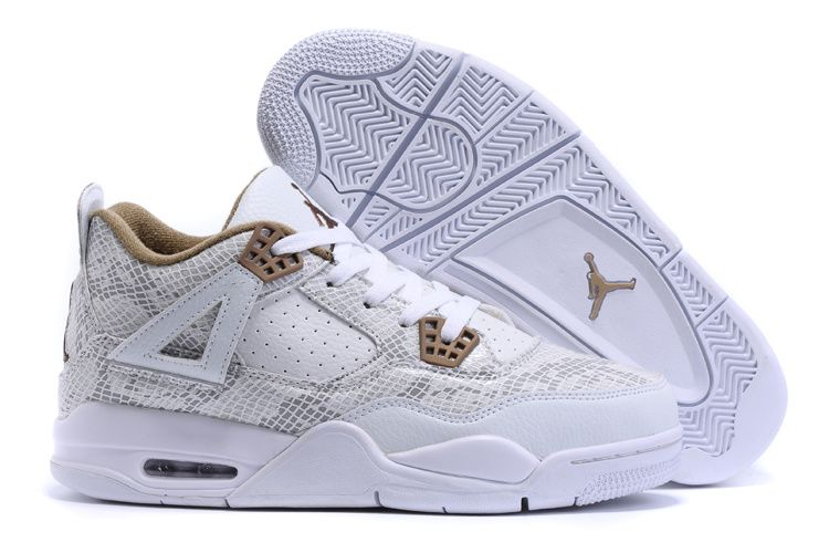 more photos b27b8 b744f 2016 Air Jordan 4 (IV) White Snakeskin Popular For Sale