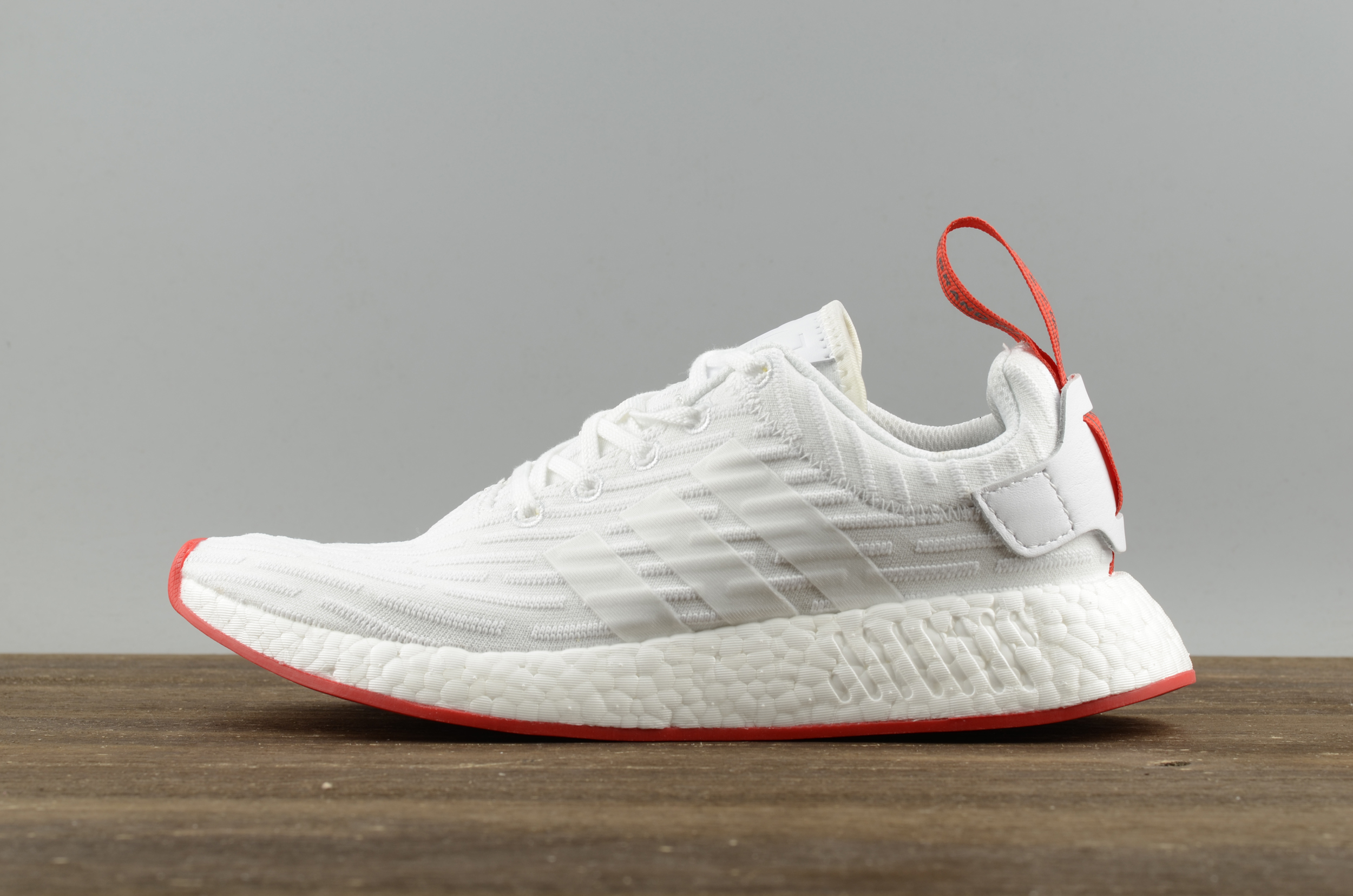 81d82fc06 2018 adidas NMD R2 PK White Red BA7253 adidas NMD Running Boost For Sale