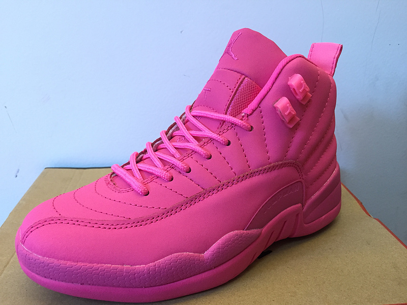 Air Jordan 12 XII Womens Pink Color Basketball Shoes e6119b102