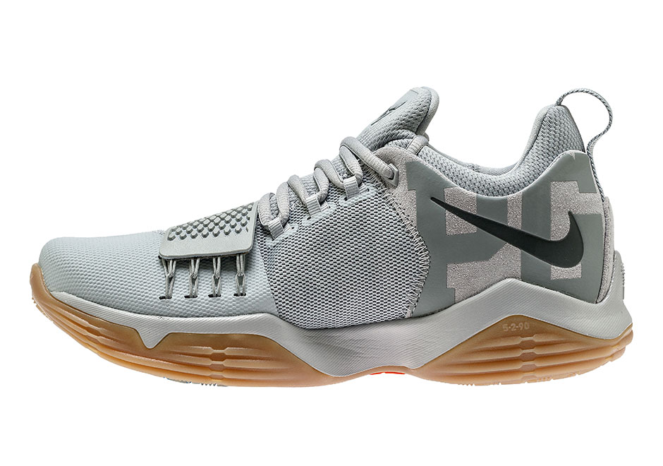 2018 Nike PG1 Baseline Wolf Cool Grey 878627 009 Basketball Shoe For Sale