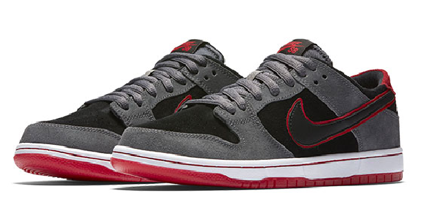 Official Nike SB Zoom Dunk Low Pro IW 895969-006 Black Grey Red Shoe