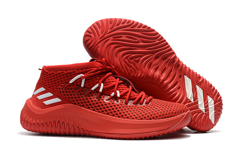 87aa46ddd12a adidas Dame 4 D Lillard Chinese Red Basketball Shoe For Sale