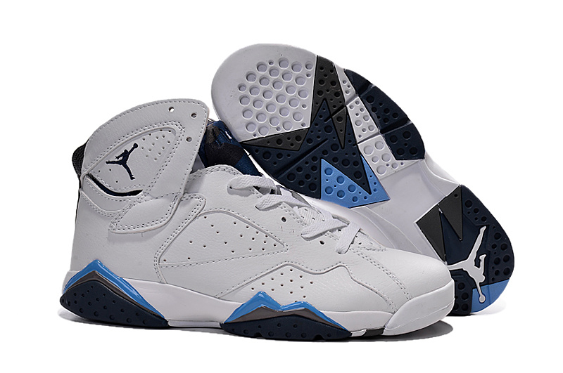 more photos d2f39 44887 cheap jordan retro 7 vii womens black white blue shoe online 2015