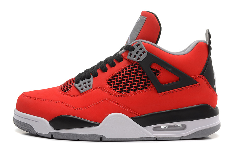 2013 Air Jordan 4 (IV) Retro Toro Bravo Fire Red White-Black-Cement Grey For Sale