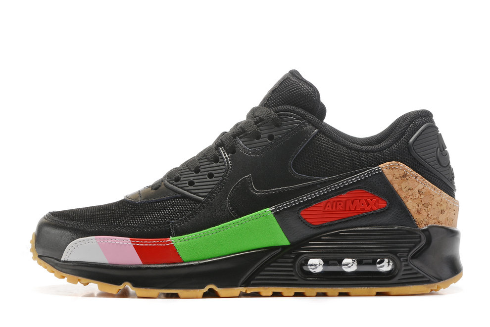 the best attitude 330e6 677d8 Nike Air Max 90 Air Max Day 537384 001 Black Colorful Running Shoe For Sale