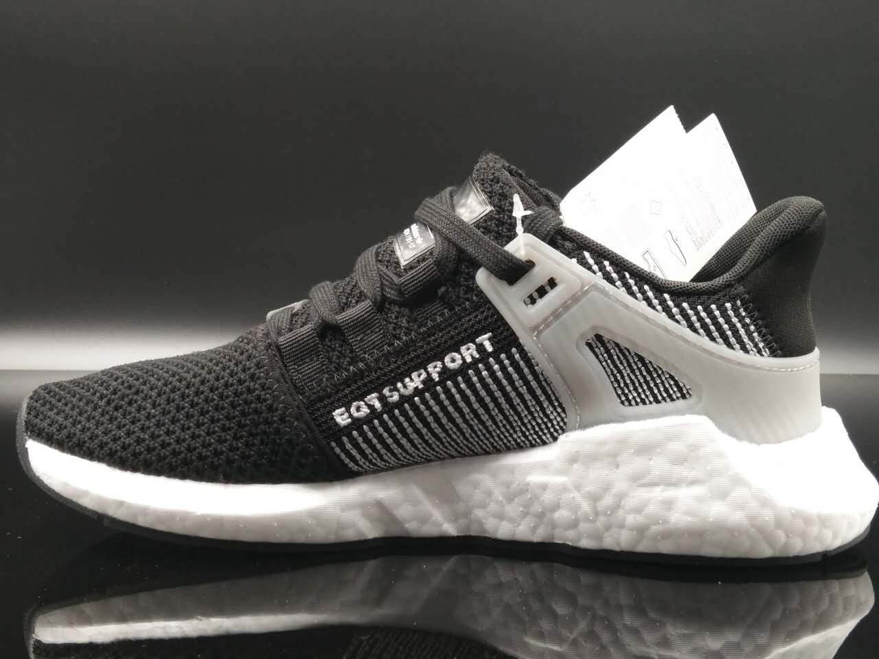 2018 adidas EQT Support 93 17 Core Black White Boost For Sale