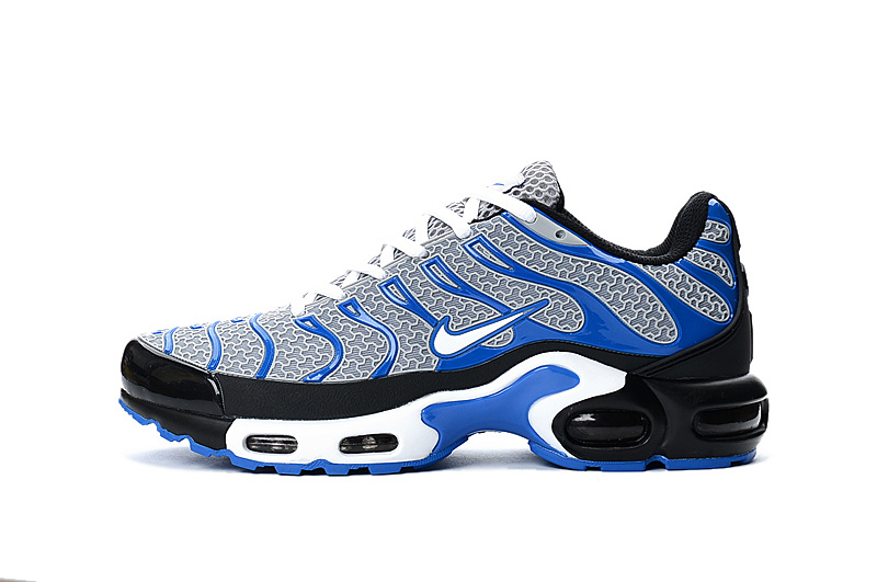 8d4ba73371 Nike Air Max Plus Tn Txt 604133 102 Light Grey Royal Blue White Running  Shoe For