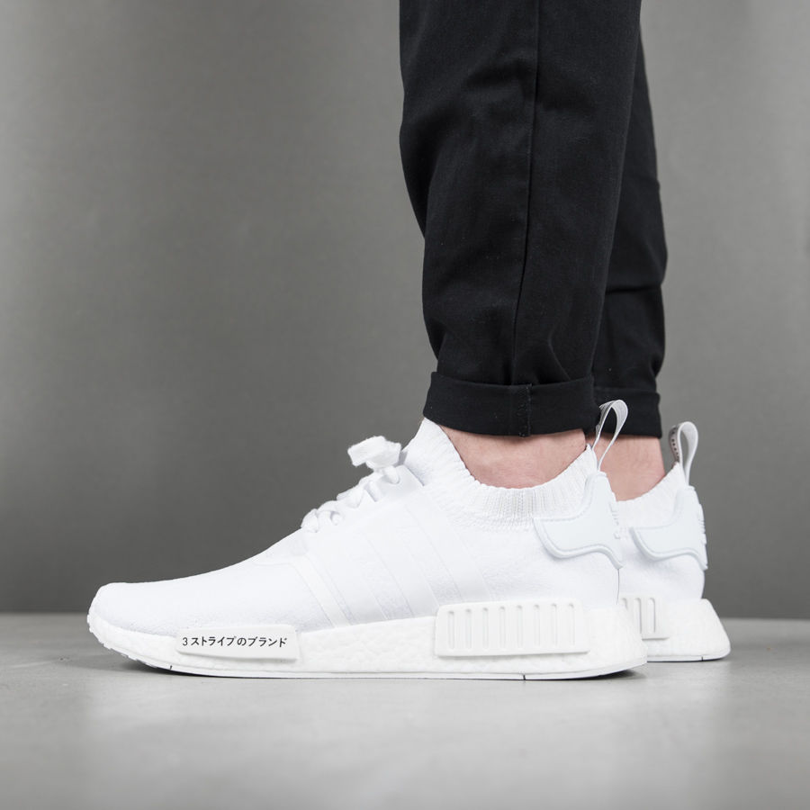 355e43be5e1eb adidas Originals NMD R1 Primeknit Japan triple White Adidas Running Boost  For Sale