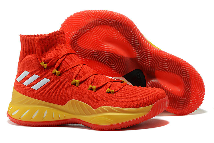 8faf8f10508e 2018 adidas Crazy Explosive 2017 All Star PE Red Yellow Basketball Shoe For  Sale