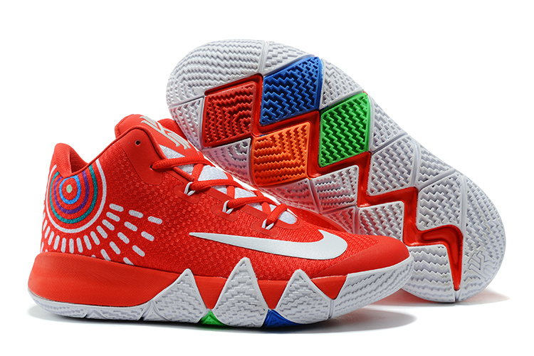d30a2439c91d Fashion Sneakers Nike Kyrie 4 Kyrie Irving IV Shoe Red White Basketball Shoe  For Sale