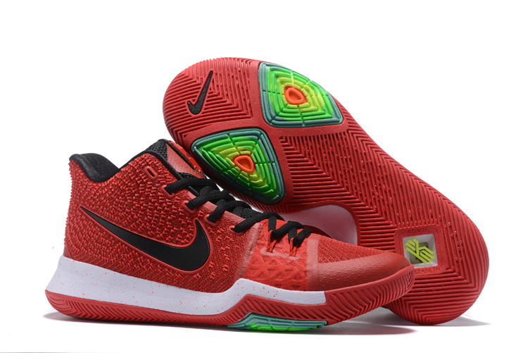 big sale f4729 12e34 Authentic Nike Kyrie 3 Mens Red Black Basketball Shoe For Sale