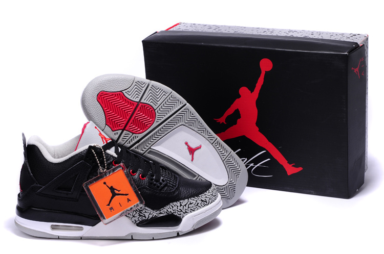 black white shoe air jordan retro 4 iv online for sale