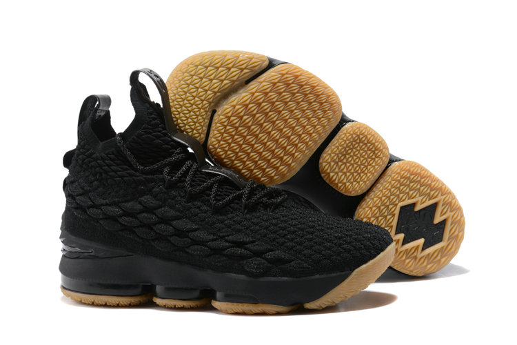 Nike LeBron 15 Black Gum Basketball Shoe For Sale bfd5f71c6