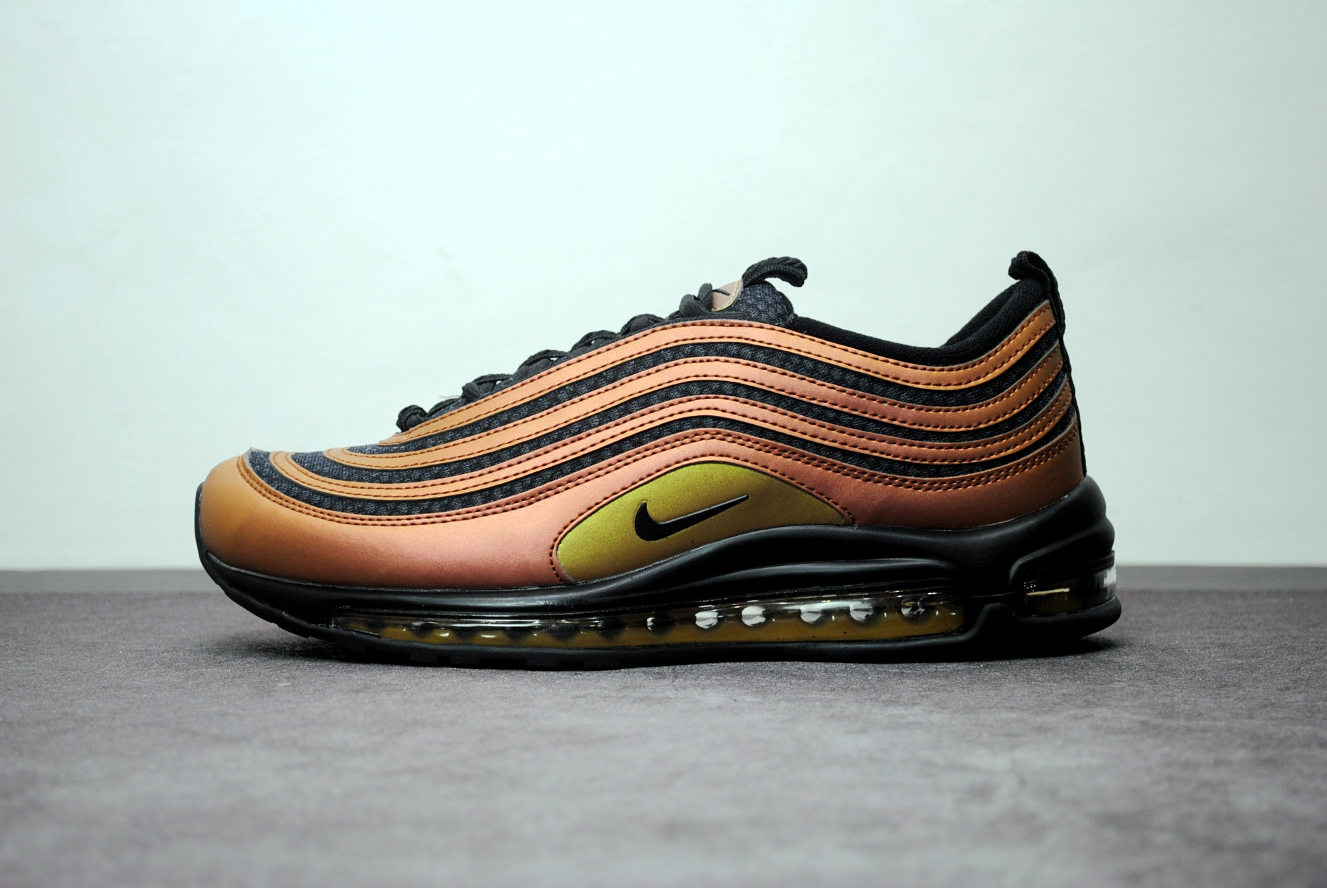 Skepta X Nike Air Max 97 Ultra 17 Multi Color ViVid Sulfur-Black Running Shoe For Sale
