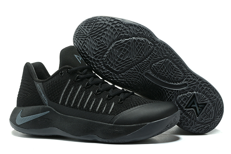 Sneakernews Recommend Nike Zoom PG 2 Flyknit Black Grey Basketball Shoe For Sale