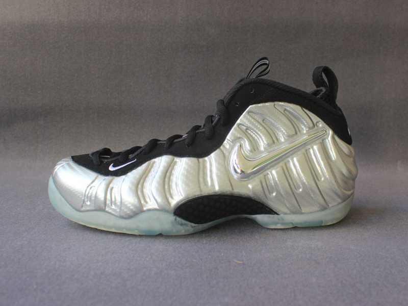cheap for discount 936ba 4342c 2018 Nike Air Foamposite Pro Silver Surfer Metallic Silver Black Basketball  Shoe For Sale
