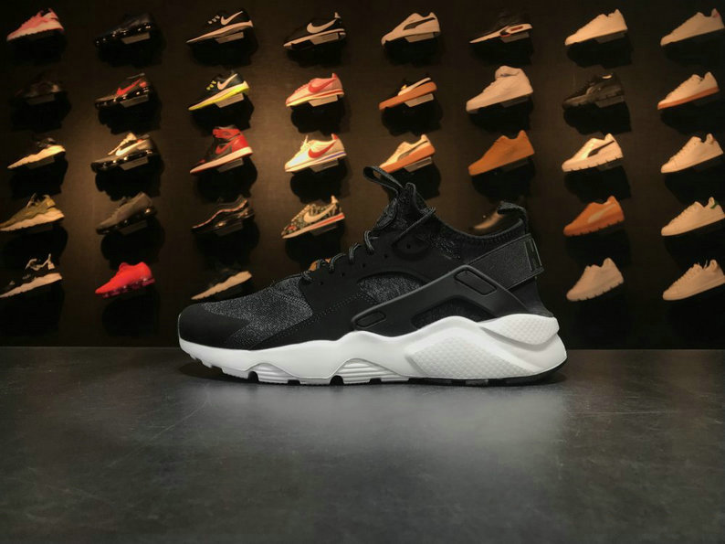 Nike Air Huarache Run Ultra 753889 993 Black White Huarache Running Shoe For Sale