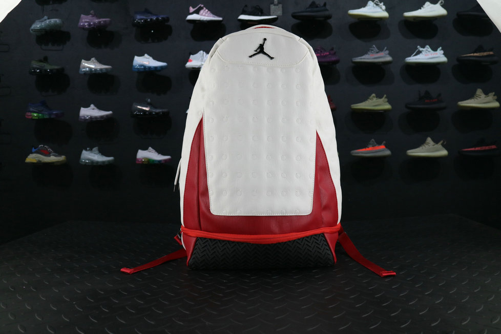 Air Jordan 13 BackPack Red White 32Cm Lenth x 20Cm Width x Height 50Cm For Sale