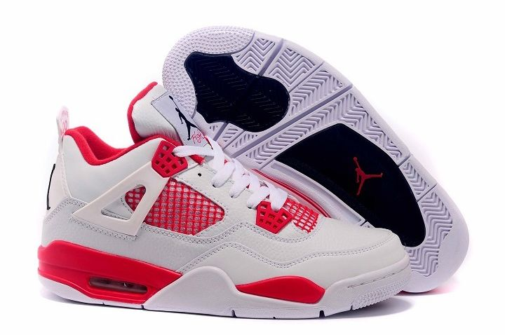 2016 Air Jordan 4 Alternate 89 White Gym Red For Sale