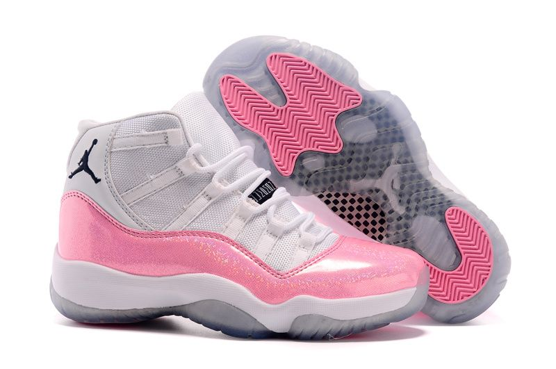 Air Jordan 11 GS Custom White And Pink 11s Grils For Sale